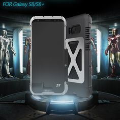 for samsung galaxy s8 plus R-JUST Armor King cover case Flip metal phone case for samsung s8 plus Iron Man case