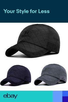 37fa5a32 Men Winter Warm Earflap Earmuffs Baseball Cap Adjustable Golf Sport Outdoor  Hat