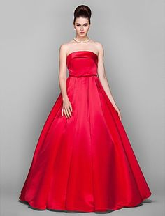 Cheap Ball Gown Strapless Floor-length Satin Celebrity Dress Inspired by Arizona Muse Free Measurement