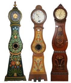Swedish Mora Folk Art Clocks 500x579 Swedish Folk Country Interior Pictures