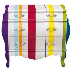 Striped 3 Drawer Chest from Alexander & Pearl