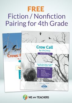 Free fiction / nonfiction pairing for fourth grade - crow theme great for Halloween!