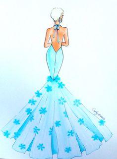 """""""Mimi""""...Fashion illustration by Cally Van Der Schyff"""