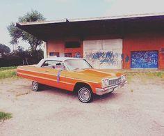 Varrio #64impala #chevy #lowrider #64chevy #lowlow #varrio #gshit #cruising #bluerag #trece #brownside #impala #lowriders