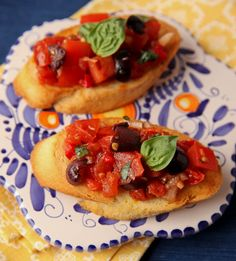 Roasted #tomato bruschetta with #kalamata #olives http://www.cycladia.com/best-restaurants-guide-greece/