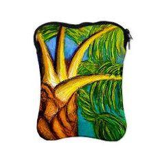 Roatan Revel Palm -iPad Sleeve on Artwork and Play by D Renee Wilson