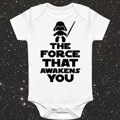 Newborn Toddler Infant Baby Boy Girl Bodysuit the force that awakens you Clothes Hipster Bodysuits Tiny Cottons Baby Onesie #Affiliate