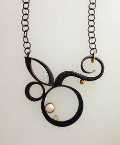 surf flower necklace - barbara umbel jewelry design
