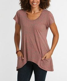 Take a look at this Desert Harvest Sidetail Top on zulily today!