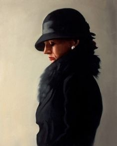Portrait in Black and Pearl - Jack Vettriano - Limited Edition Print  Looks stunning and comes in a black and gold frame