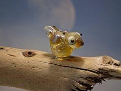 Esme lampwork bird bead sra by DeniseAnnette on Etsy, $10.00