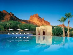 The beautiful resort is known for its mountain views and championship tennis courts, as well as an award-winning spa. Sanctuary on Camelback Mountain Resort and Spa Phoenix, #Arizona #iGottaTravel