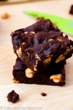 These are, by far, the fudgiest brownies in the world! The recipe is simple and they're always a hit. sallysbakingaddiction.com