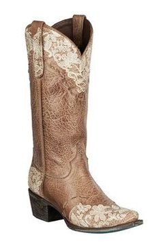 Lane Boots Jeni Lace Tan Women's Cowgirl Boots (LB0168C)