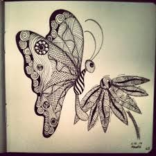 Image result for zen doodles butterfly