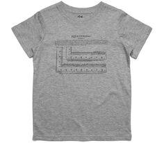 El Cheapo Analysis Ruler Toddler Grey Marle T-Shirt