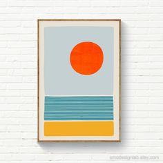 Diy Wall Art, Diy Art, Painting Inspiration, Art Inspo, Beach Print, Abstract Wall Art, Geometric Painting, Geometric Art, Oeuvre D'art