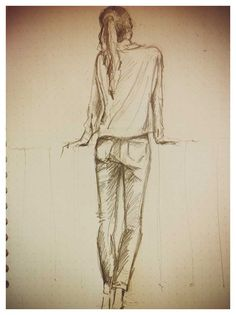 Pencil sketch #fashion illustration