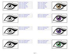 Teresa Ivanore's Prismacolor Color Combinations, Volume 1 Colouring Techniques, Faber Castell, Combination Skin, Prismacolor, Eye Color, Adult Coloring, Colored Pencils, Color Combinations, Swatch