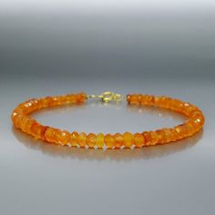 Check out Bracelet faceted Carnelian beads with 14K gold plated clasp - gift idea on gemorydesign