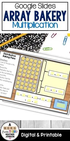 Welcome to The Array Bakery! This activity pack includes 7 hands-on, arrays activities for students help reinforce arrays, the commutative property, the distributive property, fact families, and problem solving. Great hands on/engaging support for programs like Engage NY and Eureka Math. ***NOW INCLUDES 3 versions! Printable, Digital (Google slides) and Power Point*** Multiplication Activities, Math Activities, Math Strategies, Math Resources, Math Stations, Math Centers, Third Grade Math, Fourth Grade, Commutative Property