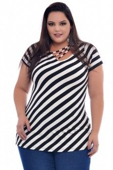 Blusa Plus Size Fabi Curvy Fashion, Plus Size Fashion, Girl Fashion, Fashion Outfits, Womens Fashion, Chunky Girls, Look Plus Size, Trendy Tops For Women, Indian Gowns Dresses