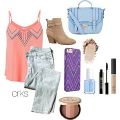 summer by crks on Polyvore featuring maurices, 7 For All Mankind, Witchery, Lord & Berry, NARS Cosmetics, Essie, Summer, tribalprint and ankleboots