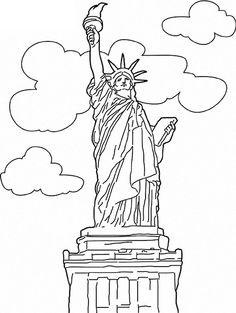 Statue Of Liberty On Audio Stories For Kids Free Coloring Pages From Light Up Your Brain