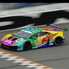 are revealing their new Huracán Evo RWD Spyder online tomorrow but in the meantime here's a shot of Lamborghini Huracán Evo with colorful livery designed by 🎨. Lamborghini Huracan, Car Wrap, Evo, Billionaire, Porsche, Photo And Video, Toys, Wraps, Vehicles
