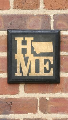 Montana HOME STATE Vintage Style Plaque/Sign by CrestField on Etsy, $32.00