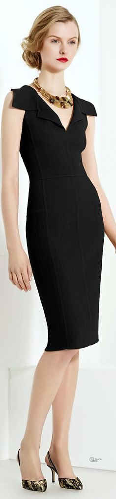 Oscar De La Renta ● Black Dress women fashion outfit clothing style apparel @roressclothes closet ideas