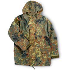 German Mil. Gore-Tex Jacket, Fleck Camo - 140667, Jackets/Coats at Sportsman's Guide