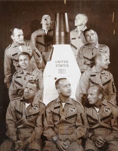 """""""The """"New Nine,"""" the first new group of astronauts chosen by NASA after the original """"Mercury Seven"""":  Neil Armstrong, Frank Borman, John Young, Thomas P. Stafford, Charles Conrad Jr., James A. McDivitt, James Lovell, Elliot See and Edward H. White II"""