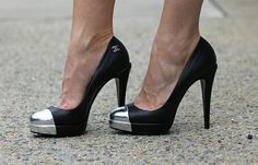 I think these are real Chanels, but wouldn't it make a great DIY for shoes that are beat up on the toes?