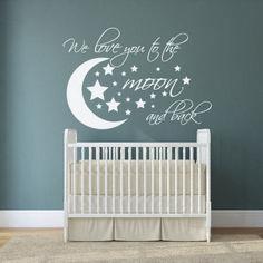 Dazzling Moon And Stars Nursery Decoration Idea 38