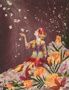 I envisioned this image earlier today -- a visual of me -- letting my flowers go!  And here I find it.  Let go and let God!