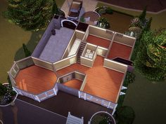 Sims 4 House Plans, Sims 4 House Building, Modern House Plans, House Floor Plans, House Floor Design, Sims 4 House Design, Casas The Sims 4, Sims 4 Mods Clothes, Sims 4 Build