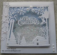 pamscrafts: Christmas shaker card.. WinterTide Frame.