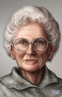 Portrait of Wilma, Barbara's grandmother. See more about Ghost Theory game on www.ghost-theory.com