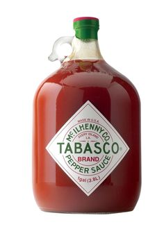 Fans of Tabasco just can't get enough, and for them we have the gallon sized glass jug of the spicy hot sauce. Tabasco adds extra heat and flavour to any dish, and now available in this jumbo size, it isn't for the faint per Tabasco Hot Sauce, Tabasco Pepper, Bland Food, Christmas Gift For You, Xmas, Stuffed Hot Peppers, Book Gifts, Chipotle, Hot Sauce Bottles