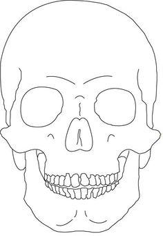 Origami Bugs, Drawing Cats, and a Skull Halloween Garland Skull Stencil, Tattoo Stencils, Skull Art, Outline Drawings, Tattoo Outline, Easy Drawings, Skull Drawings, Simple Skull Drawing, Bugs Drawing