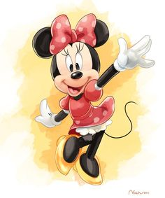Minnie Mouse loves to have fun.