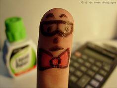 Mr. Finger tries teaching