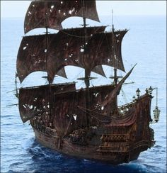 this is the Grand Barnacle jack sparrows Boat was getting attacked by a british warship but they didn't get destroyed becuase the sword was the shield