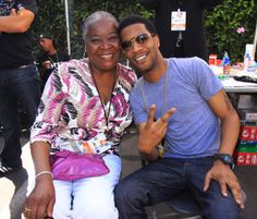 Photo of Kid Cudi & his  Mother  Elsie Mescudi
