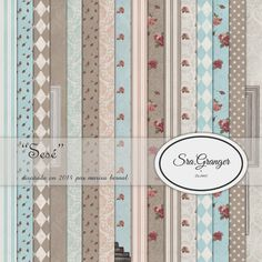 "Scraphouse. Papeles para scrapbooking ""Sesé"" diseñados por Marisa Bernal para Sra. Granger en 2014"