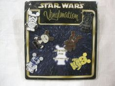 Amazon.com: 6 Piece Disney Pin Collectors Series Set Star Wars Vinylmation with Bonus Mystery Pin 2010 To Make It A 7 Piece Set: Toys & Games