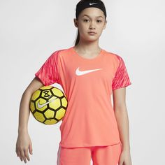 Nike Dri-FIT Academy Big Kids' (Girls') Short Sleeve Soccer Top Big Kids, Kids Girls, Kids Sportswear, Short Girls, Nike Dri Fit, Soccer, Fitness, Mens Tops, Sleeve