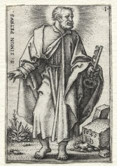 Hans Sebald Beham (1500-50) - St. Simon Peter ... | Hans Sebald Beham