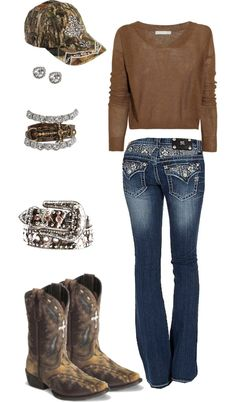 """""""Crosses & Camo"""" I love this outfit! have most of it already just need to put it together like this"""
